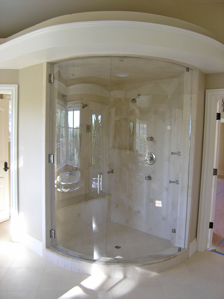 Custom Curved Shower