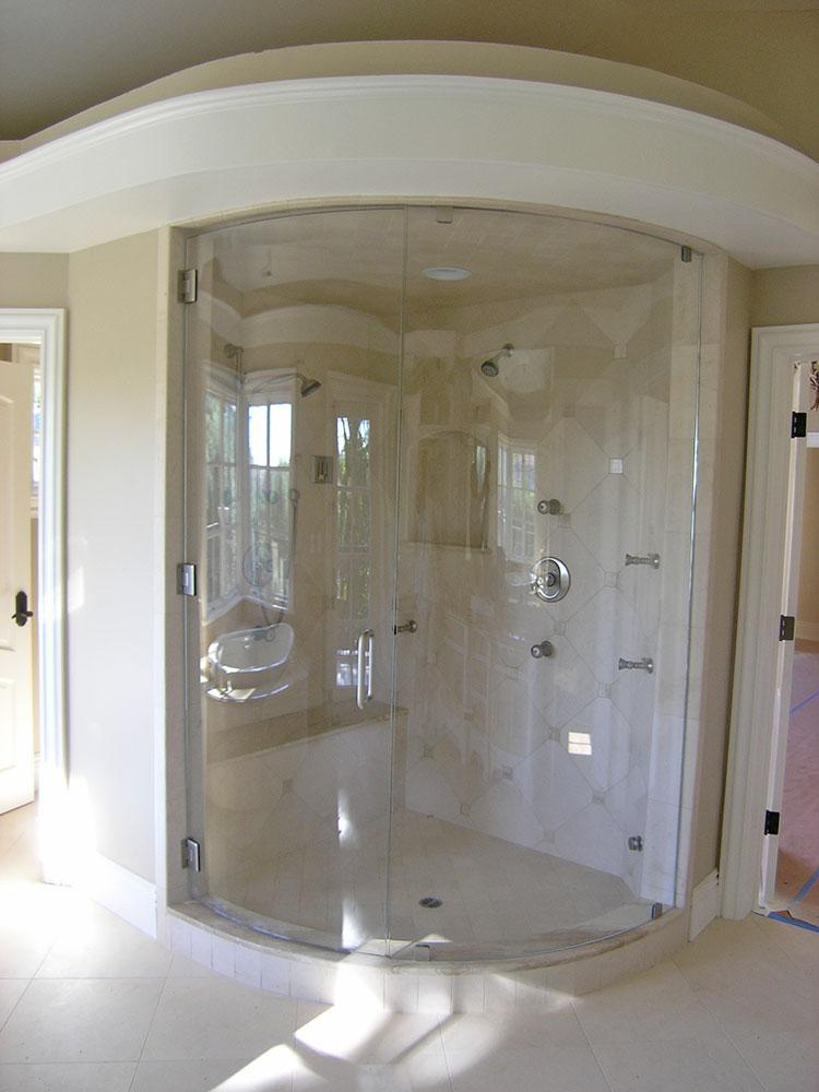 custom curved shower